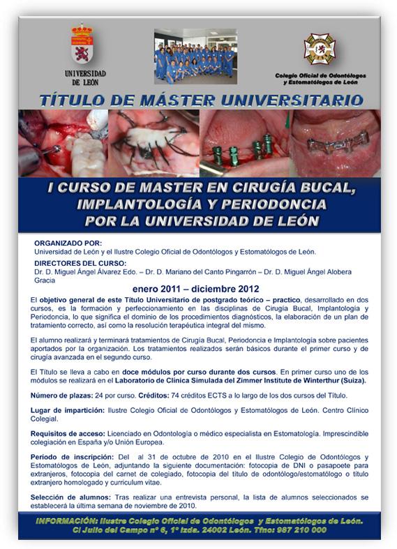 master cirugia oral