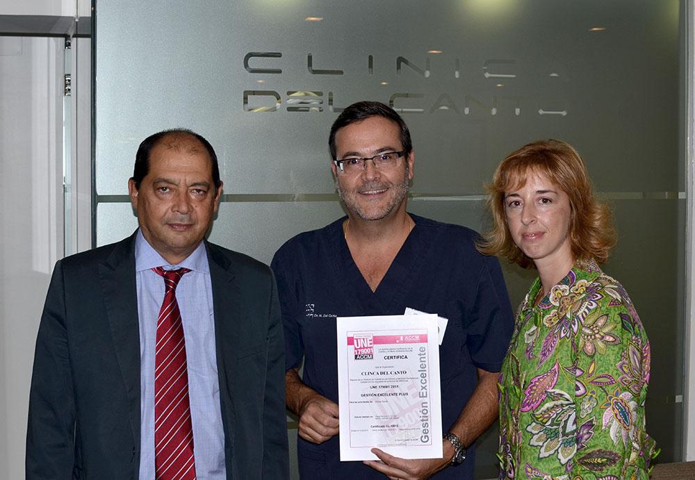 certificacion une 179001 clinica del canto