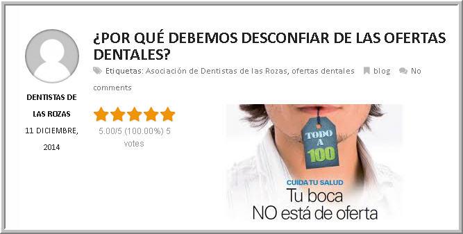 Desconfiar de las ofertas dentales-ADLR